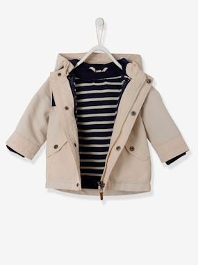 Baby-Baby Boys' 3-in-1 Parka & Detachable Jacket