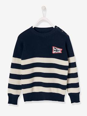 Boys-Jumpers-Sailor-Style Top for Boys