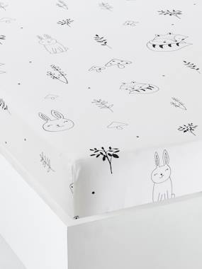 Vertbaudet Sale-Bedding-Baby Fitted Sheet, Magic Forest Theme