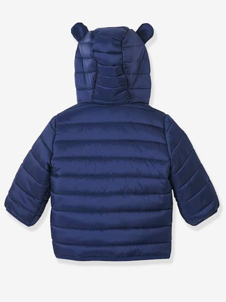 Babies' Lightweight Jacket with Stylish Hood BLUE MEDIUM SOLID+RED BRIGHT SOLID+YELLOW MEDIUM SOLID - vertbaudet enfant