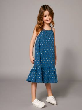 Mid season sale-Girls-Long Dress with Ruffle