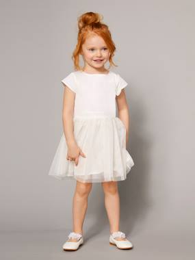 haut-Girls' Occasion Bi-Material Dress