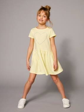 Mid season sale-Girls-Girls' Short-Sleeved Dress