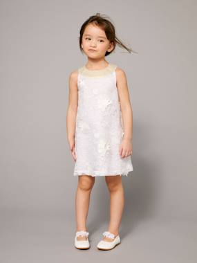 haut-Girl's Occasion Dress with Applique Flower