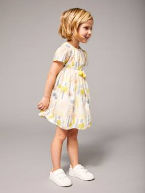 Megashop-Girls-Girls' Printed Dress