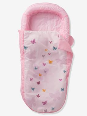 Bedding-Readybed® Sleeping Bag with Integrated Mattress and Headboard, Flight Theme