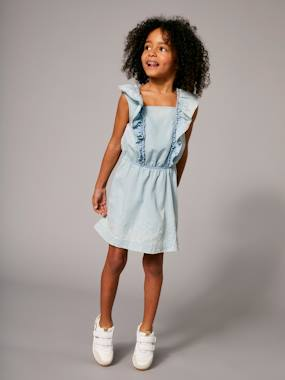Vertbaudet Collection-Girls' Dress with Frills