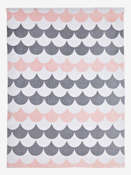 Wavy Rug WHITE LIGHT ALL OVER PRINTED - vertbaudet enfant