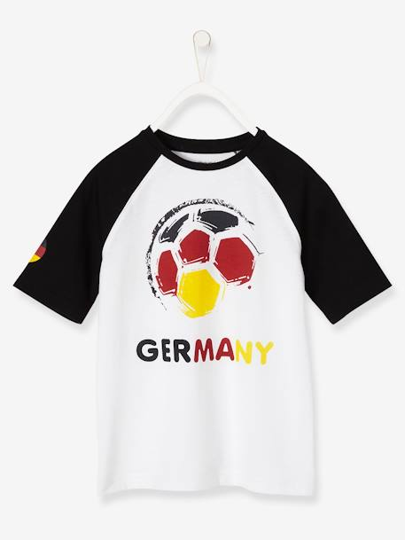 2018 World Cup T-Shirt BLACK DARK SOLID WITH DESIGN+GREEN BRIGHT SOLID WITH DESIG+GREEN LIGHT SOLID WITH DESIGN+RED DARK SOLID WITH DESIGN - vertbaudet enfant