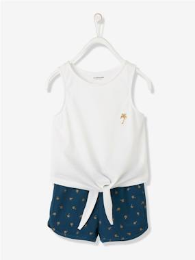 Girls-Outfits-Girls' Top & Shorts Set