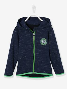 Boys-Cardigans, Jumpers & Sweatshirts-Cardigans-Sports Sweatshirt with Hood for Boys
