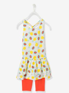 Dress myself-Girls' Dress + Leggings Outfit