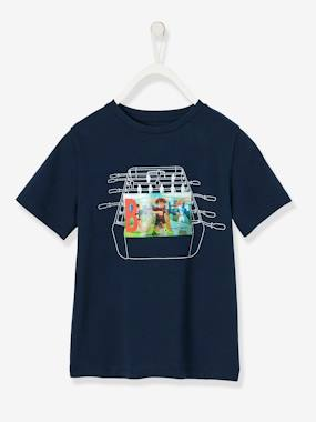 Boys-Sportswear-Boys' Sports T-Shirt, Hologram-Effect Football Motif