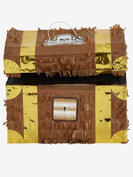 Pirate Treasure Chest Piñata BROWN LIGHT SOLID WITH DESIGN - vertbaudet enfant