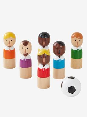 Toys-Playsets-Wooden Football Champions Pins Game