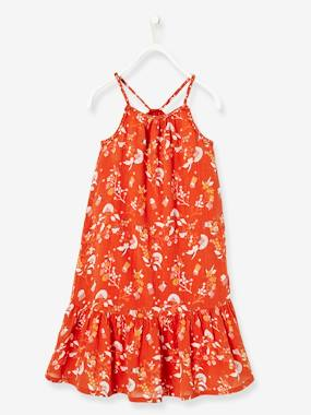 Outlet-Girls-Dresses-Long Dress with Ruffle