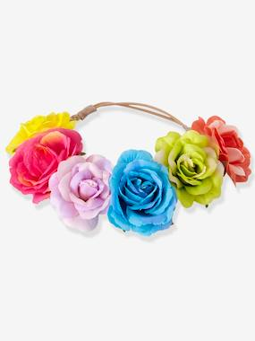 Girls-Accessories-Hair Accessories-Girls' Headband with Colourful Flowers