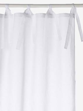 household linen-Organdie Tie Top Curtain