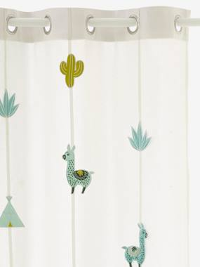 Vertbaudet Collection-Decoration-Sheer Curtain, Cactus