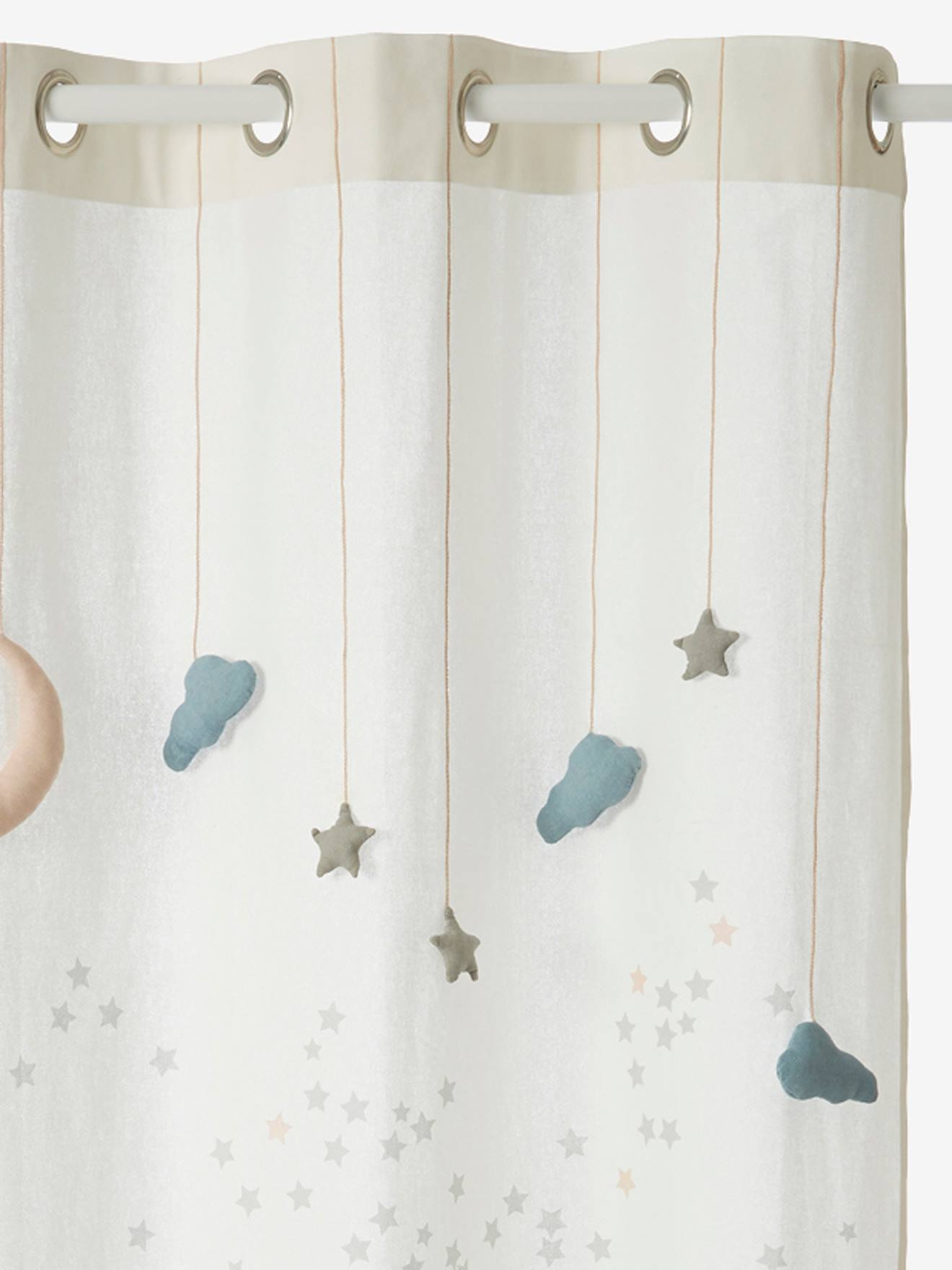Sheer Curtain Like A Star Theme White Light Solid With Design Bedding Decor
