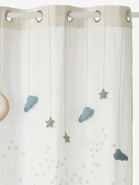 Decoration-Decoration-Sheer Curtain, Like-a-Star Theme