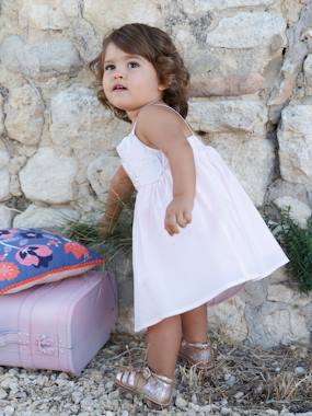 Baby-Dresses & Skirts-Baby Girls' Dress with Spaghetti Straps