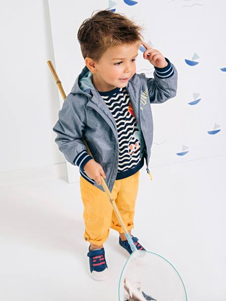 Boys' Trainers, Autonomy Collection BLUE MEDIUM SOLID+GREEN MEDIUM SOLID+WHITE LIGHT ALL OVER PRINTED - vertbaudet enfant
