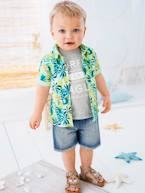 Baby Boys' Shirt with Tropical Print  - vertbaudet enfant