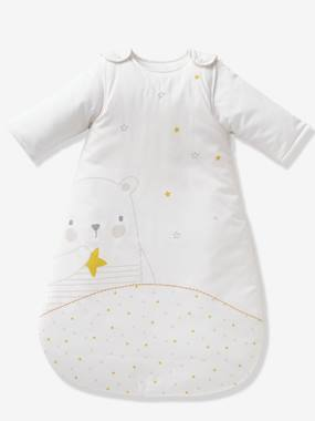 Vertbaudet Sale-Baby Sleep Bag with Detachable Sleeves, Dreamin' Teddy Theme