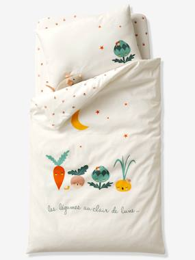 Bedding & Decor-Duvet Cover + Pillowcase for Babies, Veggie Garden Theme