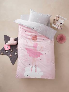 Vertbaudet Sale-Duvet Cover + Pillowcase Set for Children, Dancing Stars Theme