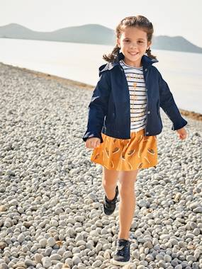 Girls-Coats & Jackets-Coats & Parkas-Girls' Parka with Frills