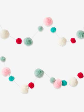 Decoration-Decoration-Wall Décor-Garland with Colourful Pompoms