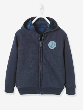 garcon-urbanjungle-Boys' Reversible Zip-Up Sweatshirt