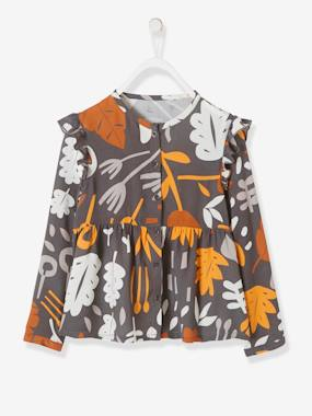 Outlet-Girls-Blouses, Shirts & Tunics-Printed Blouse in Viscose for Girls