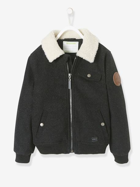 Aviator Jacket for Boys GREY DARK MIXED COLOR - vertbaudet enfant