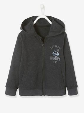 Boys-Sportswear-Jacket with Hood and Zip for Boys