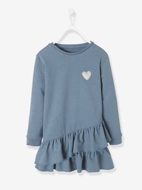 t-shirts-Robe fille en molleton irisé