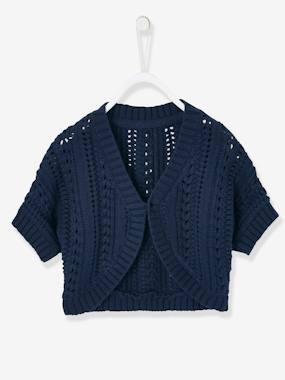 Baby-Cardigans & Sweaters-Openwork Cardigan for Baby Girls