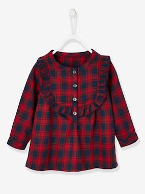Baby-Blouses & Shirts-Tartan Blouse for Baby Girls