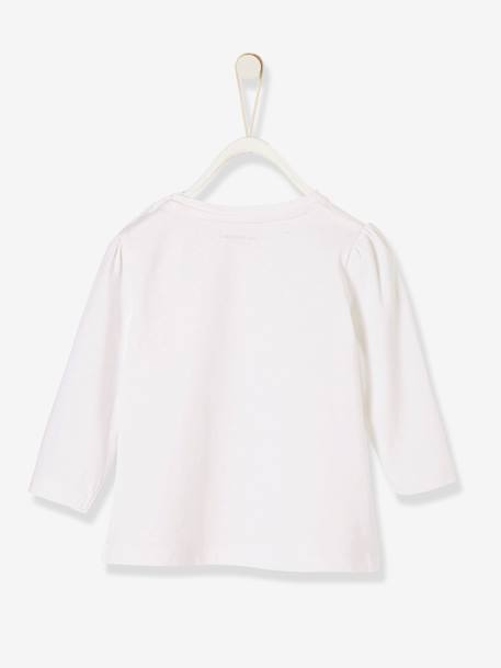 T-shirt bébé fille super little girl BLANC+ROSE - vertbaudet enfant