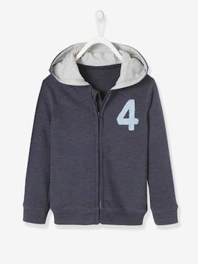 Dress myself-Fleece Cardigan with Zip for Boys