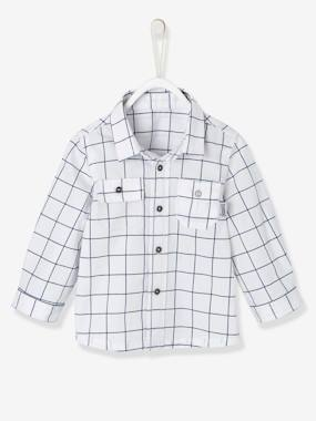 Baby-Blouses & Shirts-Shirt for Baby Boys, with Printed Motif