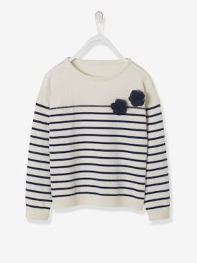 Girls-Cardigans, Jumpers & Sweatshirts-Navy-Style Jumper for Girls
