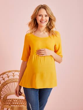 Maternity-Blouses, Shirts & Tunics-Loose-Fitting Maternity Blouse
