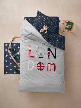 Mid season sale-Bedding-Child's Bedding-Duvet Covers-Duvet Cover + Pillowcase Set for Children, London Theme
