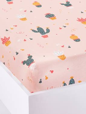 Vertbaudet Sale-Bedding-Fitted Sheet for Children, CACTUS PARTY Theme