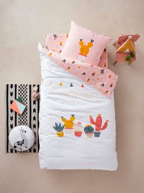 Bedding-Duvet Cover + Pillowcase for Children, Cactus Party Theme