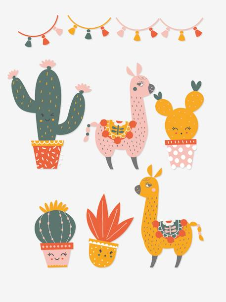 XL Stickers, Cactus Party GREEN LIGHT 2 COLOR/MULTICOLOR - vertbaudet enfant
