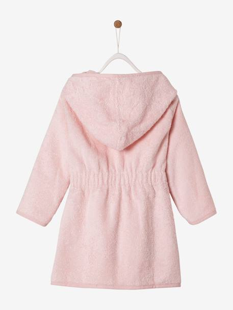 Plain Bathrobe for Babies BLUE MEDIUM SOLID+GREY LIGHT SOLID+PINK LIGHT SOLID+WHITE LIGHT SOLID - vertbaudet enfant